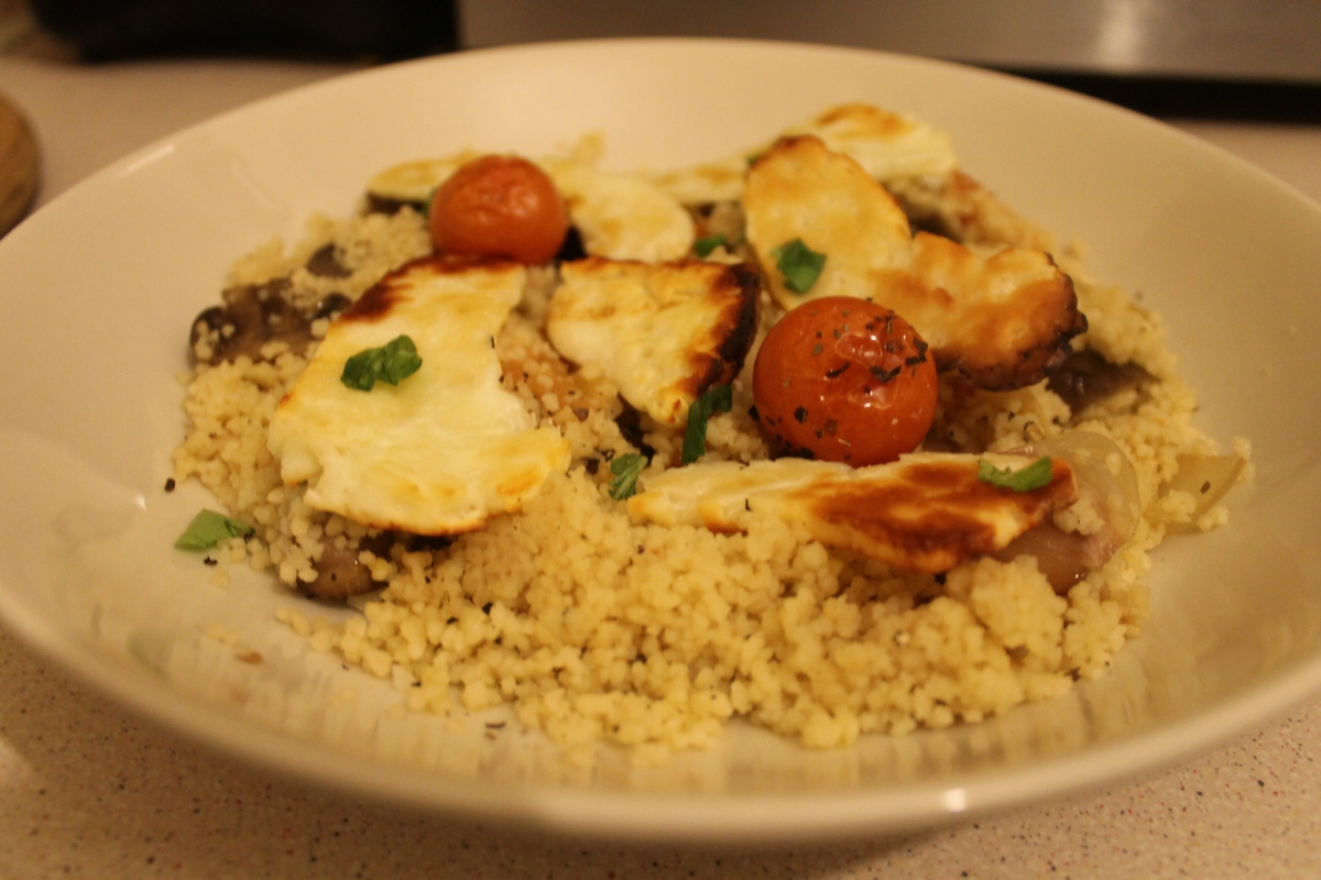 roasted vegetable and halloumi couscous thehungrylinguists